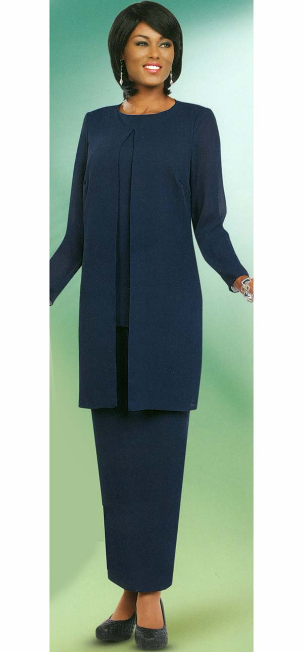 Misty Lane 13057-Navy - Three Piece Choir Outfit For Women