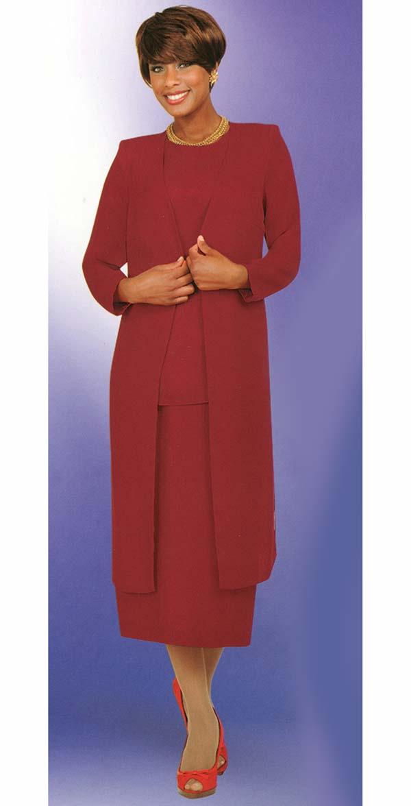 Misty Lane 13058-Red - Three Piece Choir Suit For Women