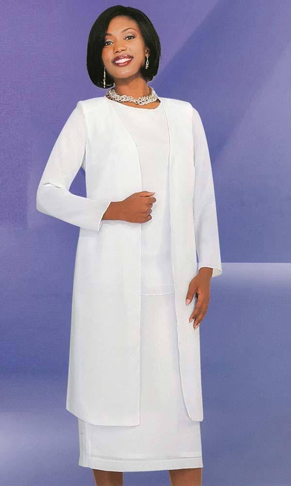 Misty Lane 13058-White - Three Piece Choir Suit For Women