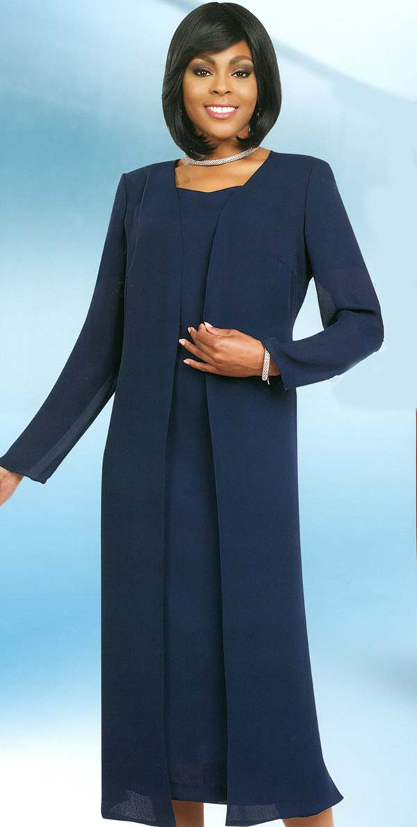 Misty Lane 13059-Navy - Two Piece Choir Dress With Jacket