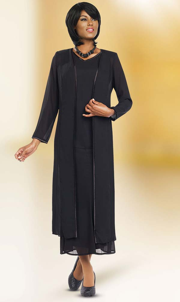Misty Lane 13061-Black - Three Piece Church Choir Suit For Women