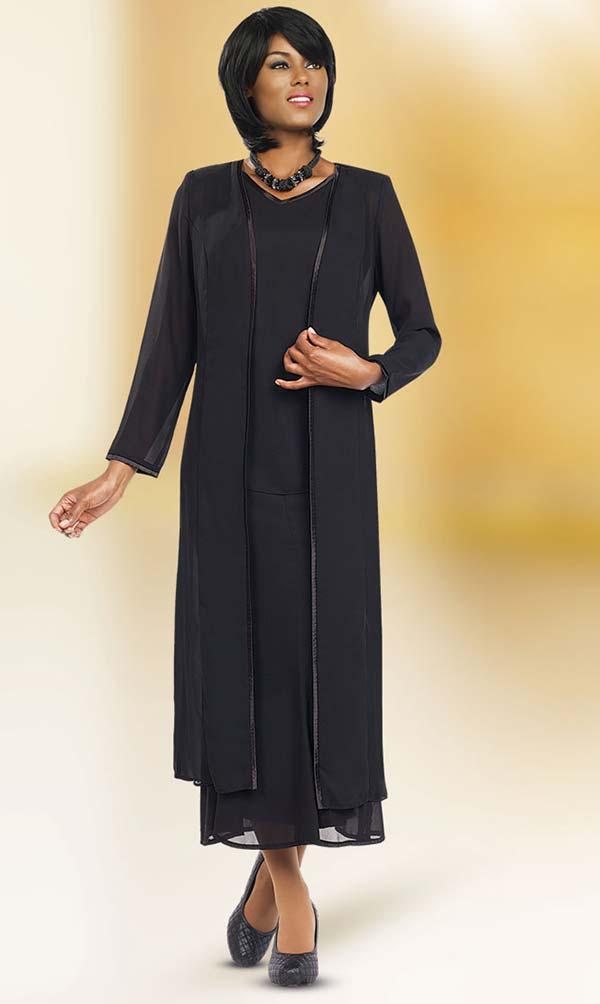 Misty Lane 13061-Black - Three Piece Church Choir Suit For Women
