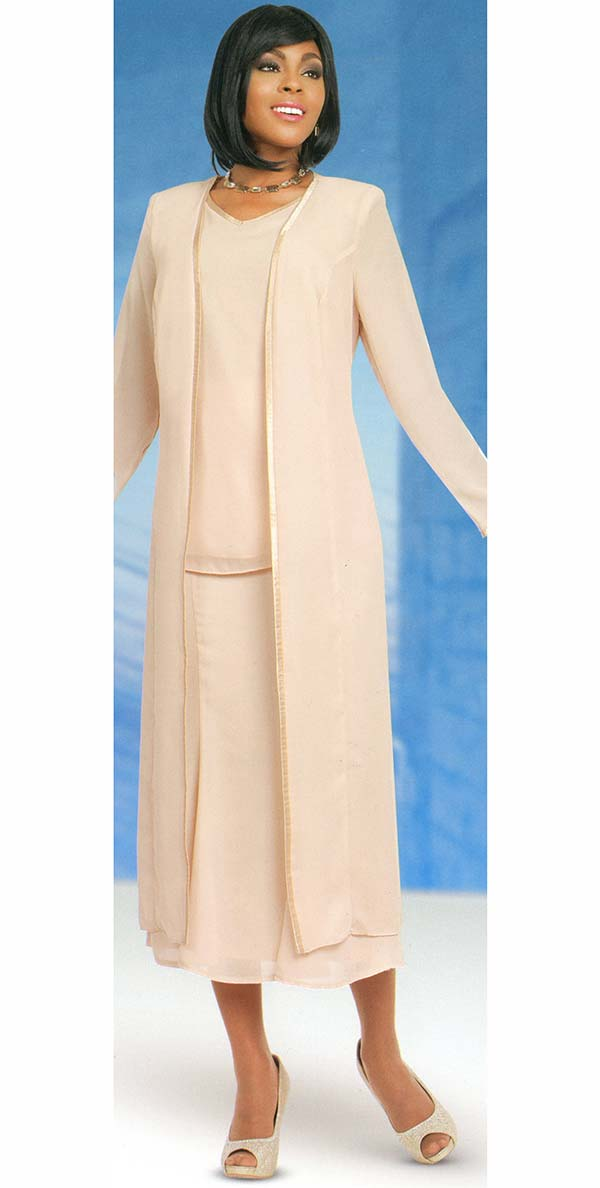 Misty Lane 13061-Chardonnay - Three Piece Church Choir Suit For Women