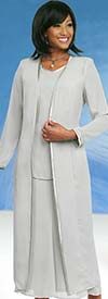 Misty Lane 13061-Silver - Three Piece Church Choir Suit For Women