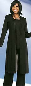 Misty Lane 13062-Black - Three Piece Womens Pant Suit For Church Choir
