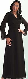Clearance Tally Taylor 9072 Womens Long Georgette Church Dress