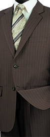 Vinci 2RS-16-Toffee -  Mens Single Breasted Two Button Fancy Striped Suit
