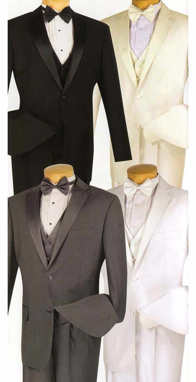 Vinci 4TV-1 Tuxedo With Vest & Bow Tie