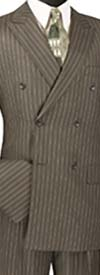 Vinci DSS-4 Mens Double Breasted Stripe Suit