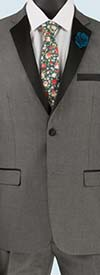 Vinci T-US900-Gray - Slim Fit Mens Single Breasted Tuxedo