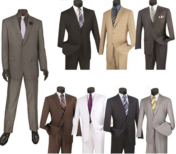 Vinci 2C900-2 Single Breasted Two-Button Church Suit For Men