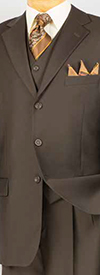 Vinci 3TR-3 Mens Single Breasted Three Button Suit For Church