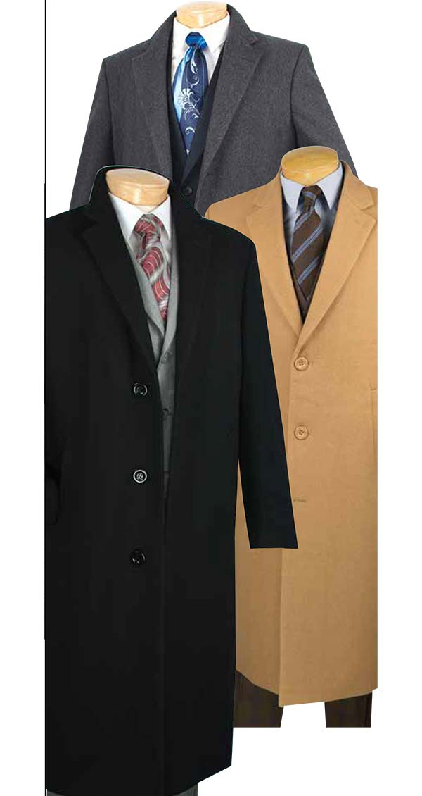 Vinci CL48-1 Mens Full Length Top Coat