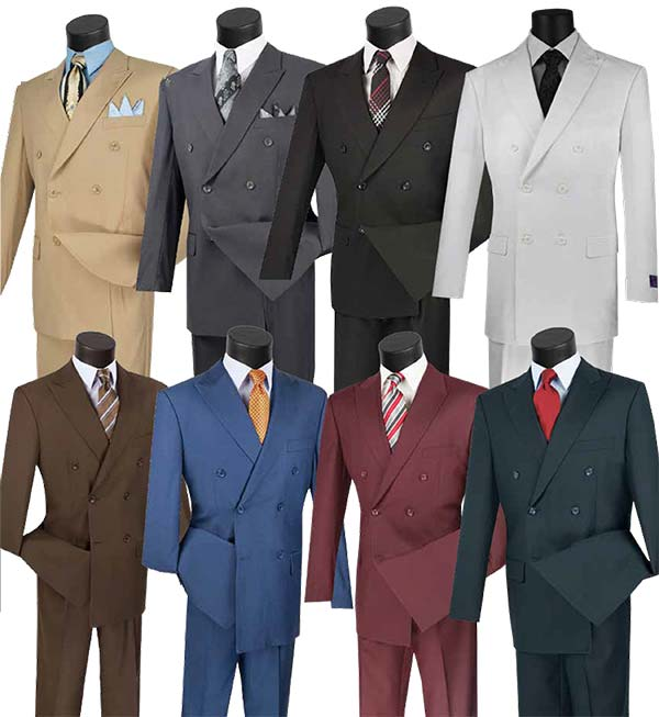 Vinci DC900-1 Mens Double Breasted Church Suit
