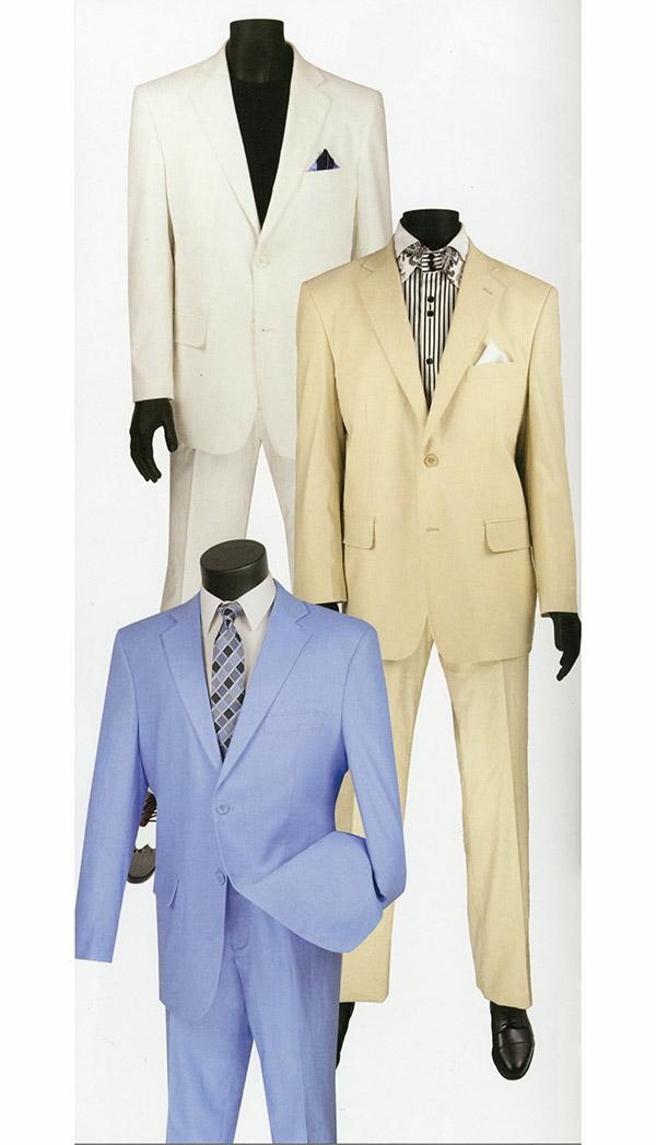 Vinci FV2LC-1 Mens Two Piece Linen & Rayon Fabric Suit