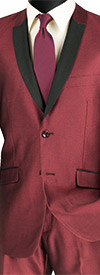 Vinci S2PS-1 Slim Fit Mens Shark Skin Suit For Church