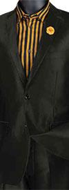 Vinci S2RK-5 Slim Fit Mens Shark Skin Suit With Notch Lapel