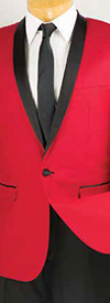 Vinci T-SS Mens Slim Fit Tuxedo With Shawl Collar