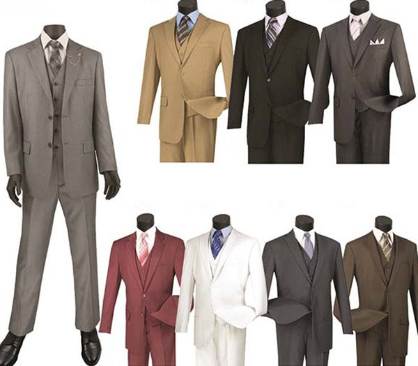 Vinci V2TR Mens Single Breasted Two Button Suit