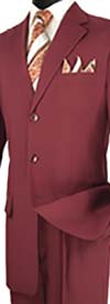 Vinci 3PP Single Breasted Three-Button Mens Suit For Church