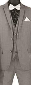 Vinci SV2T-8 Three-Piece Textured Solid Slim Fit Mens Tuxedo