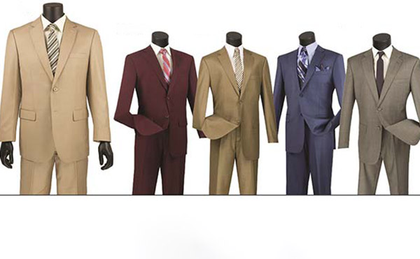 Vinci 2LK-1 Single Breasted Textured Weave Suit For Men