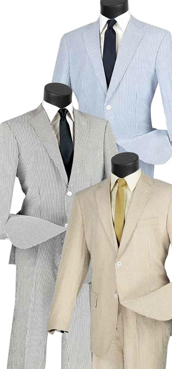 Vinci 2SS-2 Two Piece Seersucker Men's Suit