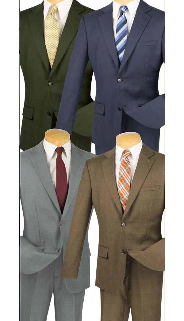 Vinci 2WWP-1 Single Breasted Window Pane Slim Fit Mens Suits