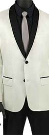 Vinci BSF-6-White - Mens Shawl Lapel Sport Coat