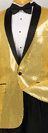 Vinci BSQ-1 Mens Shawl Collar Sport Coat With Sequins