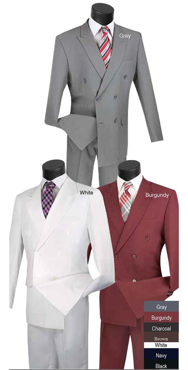 Vinci DPP Double Breasted Church Suits For Men