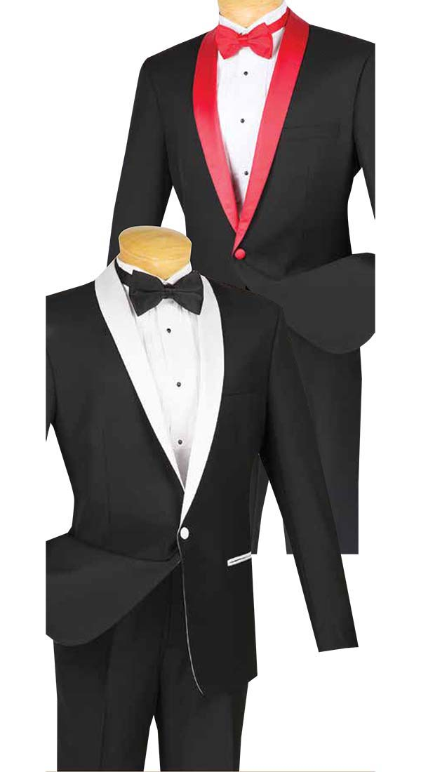 Vinci S1SH-2 Slim Fit Mens Shawl Lapel Tuxedo
