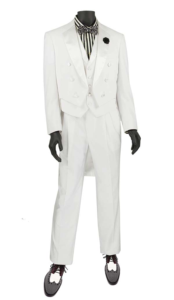 Vinci T-2X-White Tuxedo With Tails