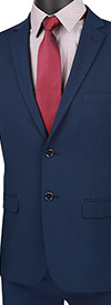 Vinci-USDX-1-Navy - Stretch Ultra Slim Mens Suit With Side Vents