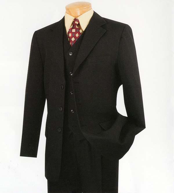 Vinci V-3PP Mens Single Breasted Poplin Dacron Suit