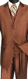 Vinci V3RR-4 Three-Piece Church Suit For Men
