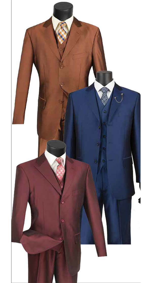 Vinci V3RR-4 Three-Piece Church Suit For Men