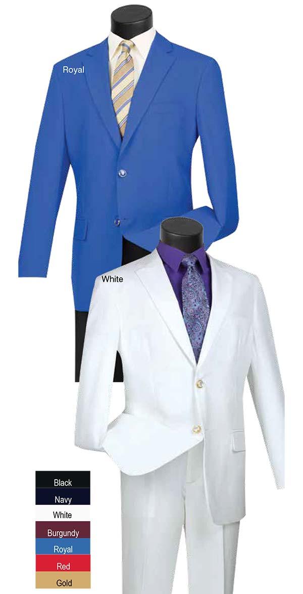Vinci Z-2PP Mens Two-Button Blazer