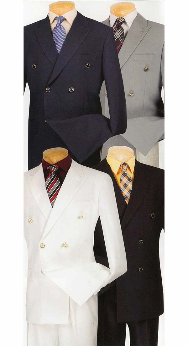 Vinci Z-DPP Double Breasted Mens Blazer For Church