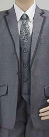 Vittorio St. Angelo BOY103 Five Piece Boys Suit For Church