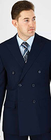 Vittorio St. Angelo C602DB Two Piece Mens Double Breasted Church Suit