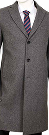 Vittorio St. Angelo COAT91-Grey - Mens Wool Blend Overcoat