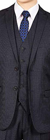 Vittorio St. Angelo FS62H - Mens Three Piece Slim Fit Church Suit