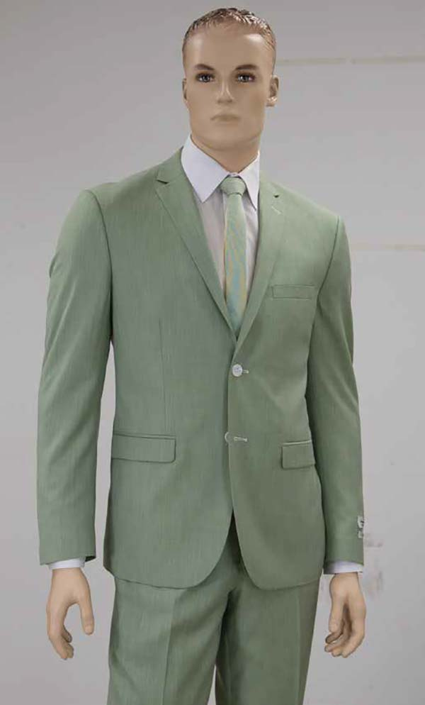 Vittorio St. Angelo S62DM-Mint - Mens Two Piece Slim Fit Church Suit