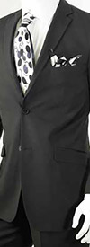 Vittorio St. Angelo S62KR-Black - Two-Piece Mens Slim Fit Suit