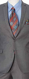 Vittorio St. Angelo S62KR-Grey - Two-Piece Mens Slim Fit Suit