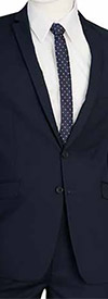 Vittorio St. Angelo S62KR-Navy - Two-Piece Mens Slim Fit Suit
