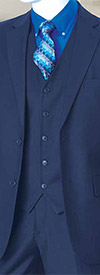 Vittorio St. Angelo T62W Mens Classic Fit Three Piece Suit