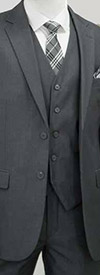 Vittorio St. Angelo TM62F Three Piece Mens Church Suit