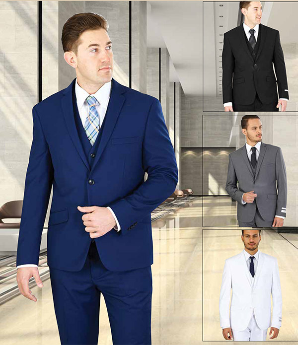 Vittorio St. Angelo TS62KR - Three Piece Slim Fit Mens Church Suit